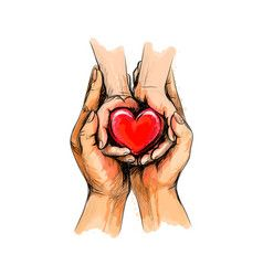 Care hands Royalty Free Vector Image - VectorStock